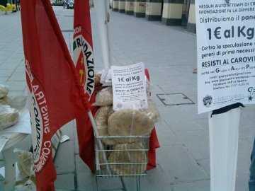 Cosenza, iniziativa Prc per alleviare la crisi salariale dei lavoratori