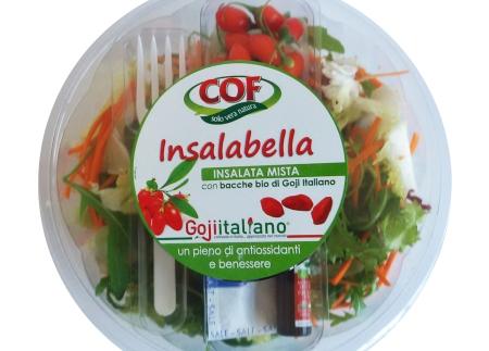 """Nasce """"Insalabella"""" l'insalata alle bacche di Goji Italiano Un'originale innovazione di prodotto con la partnership tra COF e GOJI ITALIANO"""