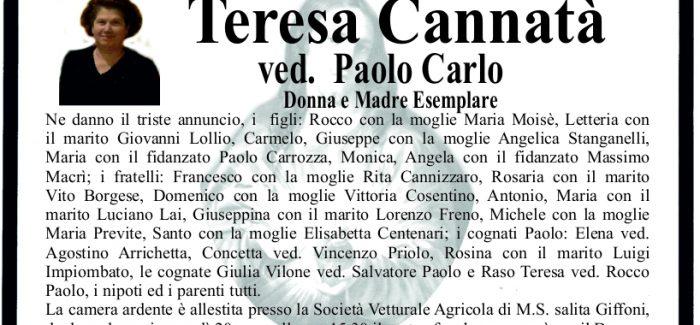 Gioia Tauro, morta Teresa Cannatà I funerali si terranno domani, alle 15.30