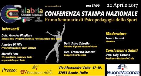 A Rende seminario di psicopedagogia dello Sport L'iniziativa s'inserisce nel quadro delle attività del Comitato regionale C.S.A.In