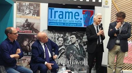 Trame.7 approda al Salone del Libro di Torino Presentati nello stand della Regione Calabria i temi della settima edizione del Festival dei libri sulle mafie