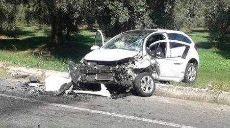 Incidente nella strada che collega Taurianova ad Amato Nel violento impatto sono state coinvolte due autovetture