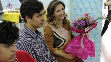 Lo scrittore autistico Sirianni all'Istituto Comprensivo di Oppido