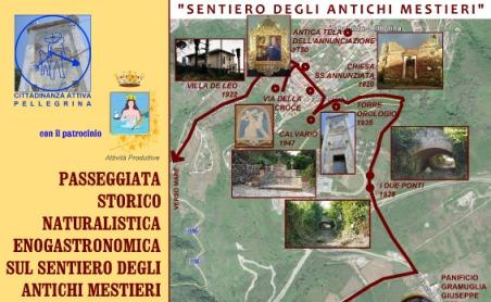 """Bagnara, passeggiata """"sentiero degli antichi mestieri"""" Manifestazione volta al recupero del borgo di Pellegrina"""