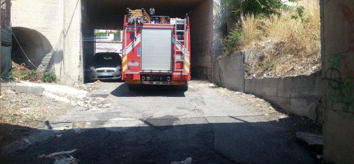 Lazzaro, sottopassi pericolosi: intervengono i vigili del fuoco Nel sottopasso stradale al km 20+750