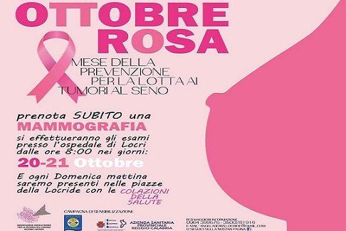 Ottobre Rosa Mese della prevenzione per la lotta ai tumori al seno