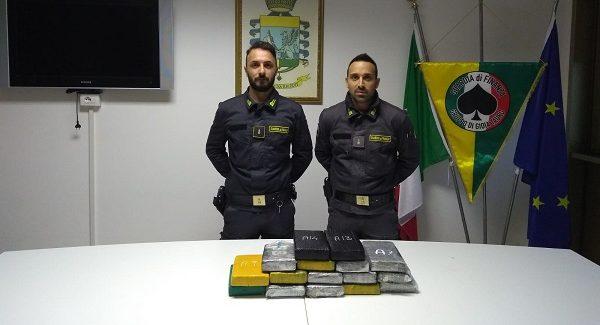 Sequestrati 17 chili di cocaina al porto di Gioia Tauro La droga è stata rinvenuta all'interno di un contenitore che trasportava semi di girasole proveniente dal porto argentino di Buenos Aires