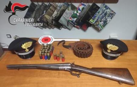 Rinvenuto fucile e munizioni in un casolare Nell'agro del Comune di Capistrano. Il fucile era carico