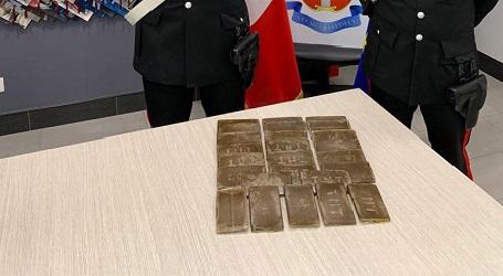 In auto con più di due chili di hashish: due persone arrestate Operazione dei Carabinieri