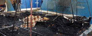 Incendio nella nuova tendopoli di San Ferdinando: un morto