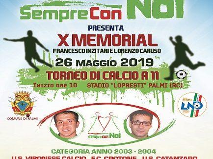 """Al via memorial """"Francesco Inzitari-Lorenzo Caruso"""" L'evento, organizzato dall'associazione sportiva """"Sempre con Noi"""", si terrà domenica a Palmi"""