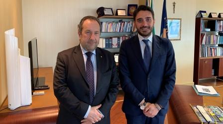 Irto ha ricevuto a Palazzo Campanella il prefetto Mariani Incontro programmato in occasione dell'insediamento del nuovo capo dell'Ufficio territoriale del governo