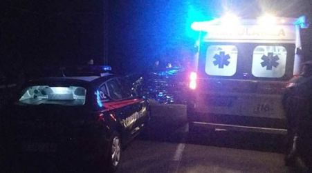 Incidente stradale statale 534: due morti e due feriti Rilievi dei Carabinieri per stabilire l'esatta dinamica dell'impatto