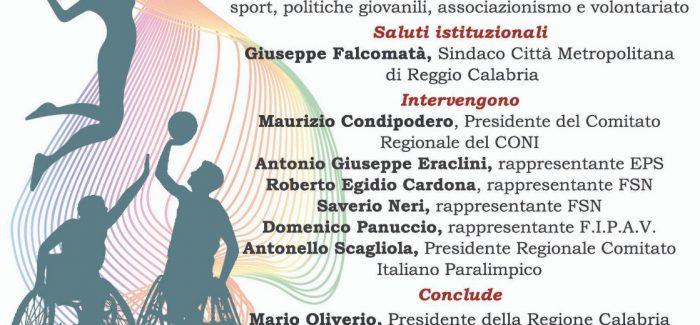 Reggio Calabria, modifiche alla legge sullo sport Si terrà il 25 ottobre ore 17,00 Sala Monteleone del consiglio regionale