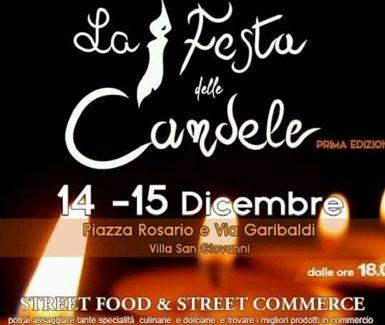 """Villa San Giovanni, cresce l'attesa per la """"Festa delle candele """" Il 14 e15 dicembre dalle ore 18,00"""
