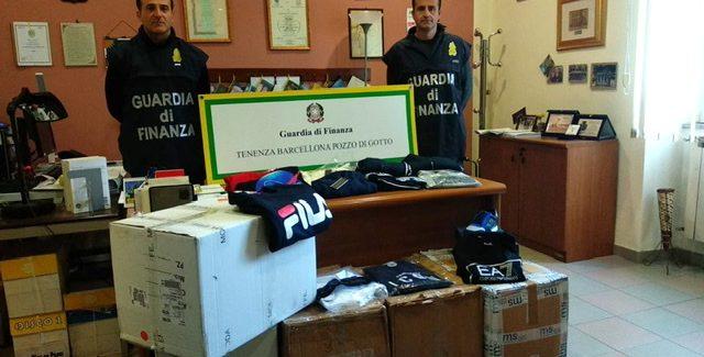 Barcellona Pozzo di Gotto, la finanza sequestra un negozio dove si vendeva merce contraffatta Il titolare percepiva anche il reddito di cittadinanza