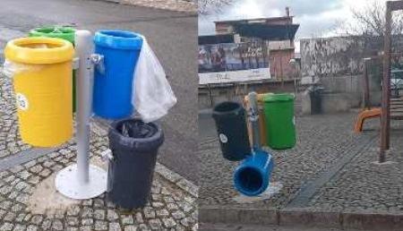 Taurianova, ma gli abitanti di Amato, i cestini li vogliono, sì o no? In pochi giorni sono stati danneggiati alcuni installati pochi giorni fa, l'ultima scoperta stamattina